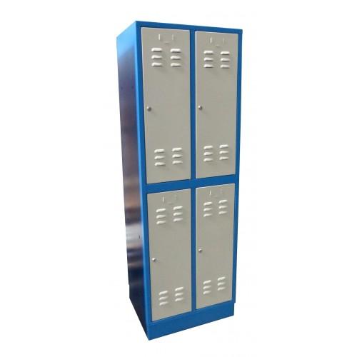 Kovová Šatníková skriňa 2 - dielna / 4 - dverová