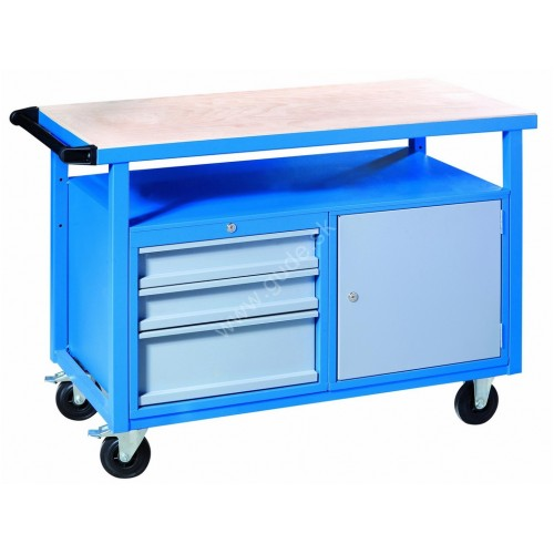 Pracovný stôl P1200SLT na kolieskach
