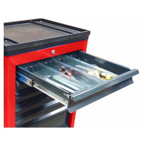 Deliace priečky do zásuviek kovového vozíka Basic