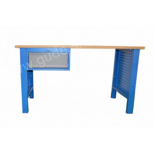 Pracovný stôl s doskou Multiplex s 1-zásuvkovou skrinkou