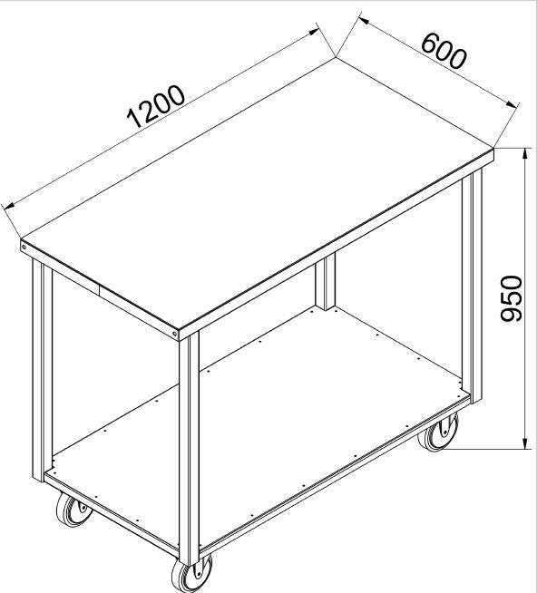 pracovný stôl P 1200 SW